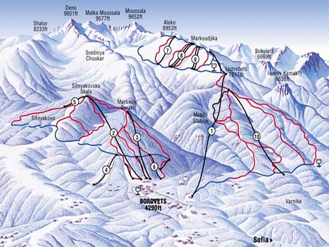 borovets-trail-maps
