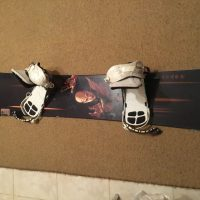Snowboard Palmer+Ride bindings
